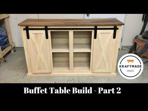 Buffet Table Build Part 2 - Sliding Barn Door Hardware - Kraftmade