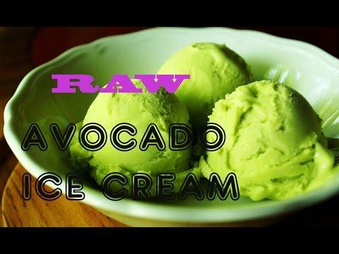 RAW avocado ICE CREAM (only 3 ingredients)