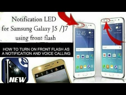 How To Get Notification LED Alert in Samsung Galaxy J5  J7 by front Flash light, Urdu