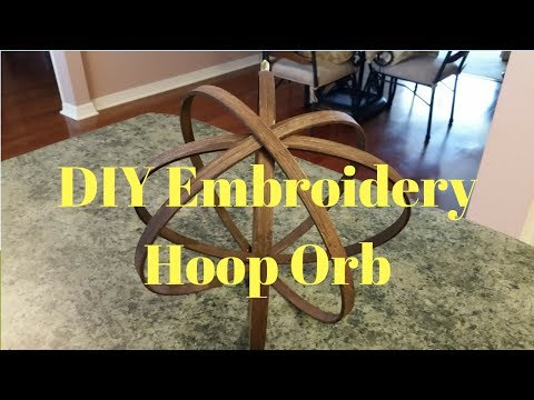 DIY Embroidery Hoop Orb
