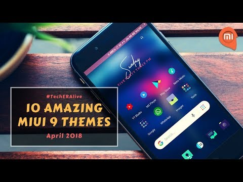 Top 10 Amazing Themes For MiUi 9 | April 2018 | Redmi Note 4