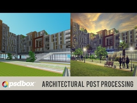 Architectural Post Processing in Photoshop (PSD Box)