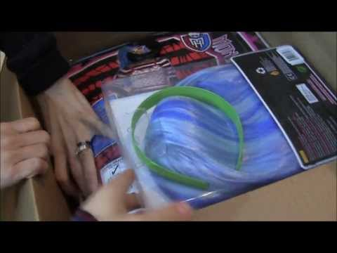 MONSTER HIGH COSTUME HAUL UNBOXING VIDEO FRANKIE STEIN LAGOOONA BLUE CLEO DE NILE GHOULIA YELPS