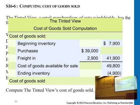 How to compute the cost of goods sold