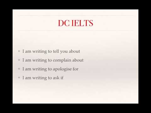 An  introduction to IELTS letters
