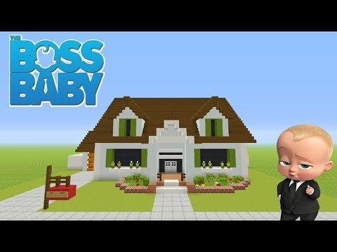 Minecraft Tutorial: How To Make The Boss Babys House (The Templeton House)