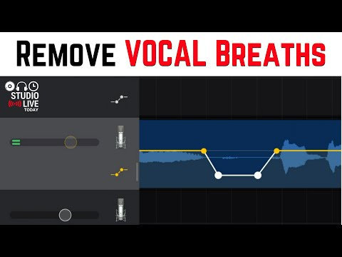 Remove Vocal Breaths in GarageBand iOS Using Volume Automation (iPhone/iPad)
