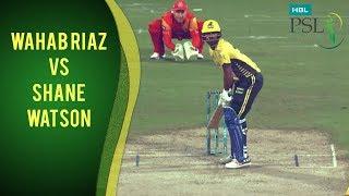 PSL 2017 Match 12: Wahab Riaz vs Shane Watson