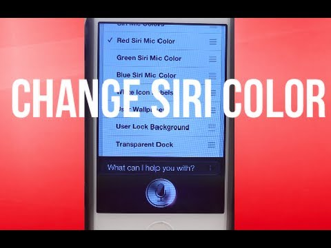 How to Change the Color of Siri on iPhone 4S (Siri Theme Tutorial)