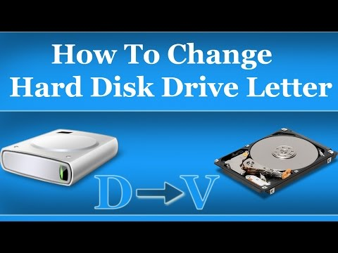 How To Change Hard Disk Drive Letter in Windows 7,8,10,XP - Urdu Hindi