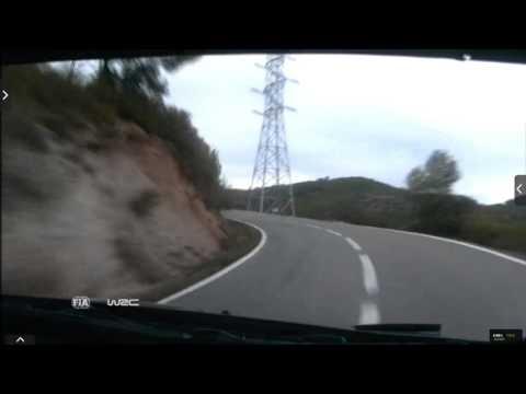 Onboard Kubica rally Catalunya-costa Daurada ss11 2015