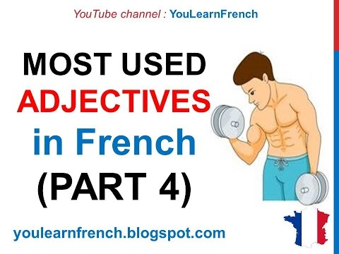 French Lesson 244 - 100 Most common ADJECTIVES in French PART 4 Must know Most used basic adjectives