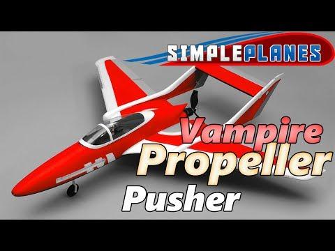 Vampire Propeller Plane! - Simple Planes (Build)
