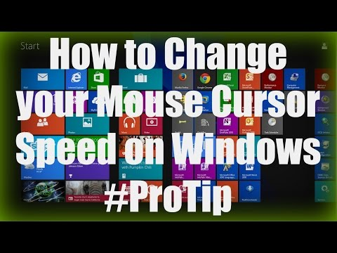 HOW-TO: Control your Mouse Cursor Speed on Windows 8 / /7 / Vista