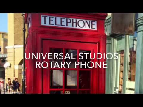 Universal Studios Harry Potter Phone Booth Magic dial - can she do it?
