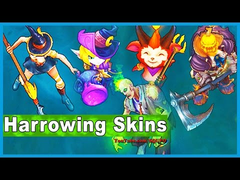 All Harrowing Skins  🎃 (League of Legends)