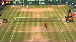 Roger Federer Vs Tommy Haas -- Halle 2005 Highlights