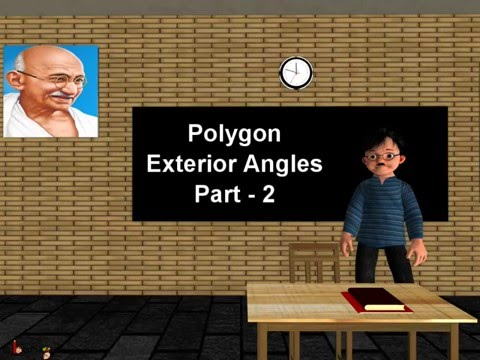 Maths - How to find exterior angle and number of sides of regular polygon - English