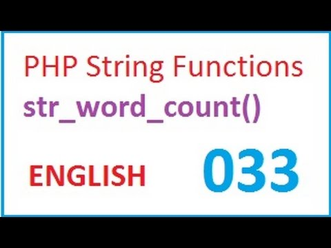 PHP String Functions str_word_count-vlr training