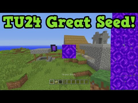 Minecraft Xbox 360 PS3 TU24 Seed - Instant Nether Portal + Achievements
