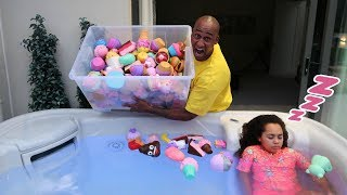 Download TIANA'S SQUISHY TOYS IN HOT TUB PRANK!! Video