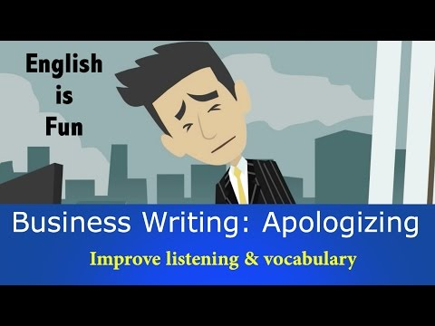 Apologizing | English Writing Activity | Natural English