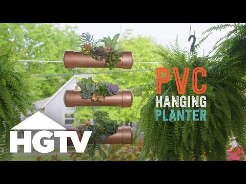 DIY PVC Hanging Planter - Way to Grow - HGTV