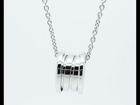 BVLGARI B.zero 1 Ring Pendant with chain in 18ct white gold