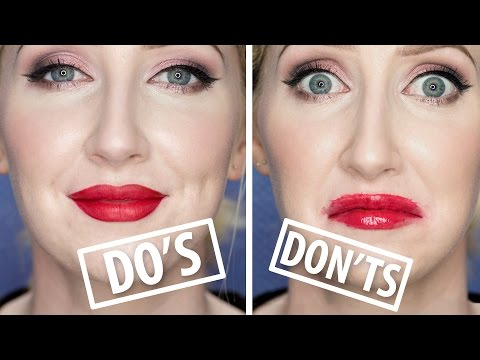 MAKEUP DO'S AND DON'TS  - Red Lipstick Mistakes To Avoid! | Sharon Farrell