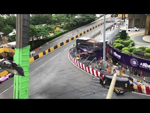 Huge Horror Crash at Macau F3 Grand Prix 2018 Sophia Floersch (both angles)