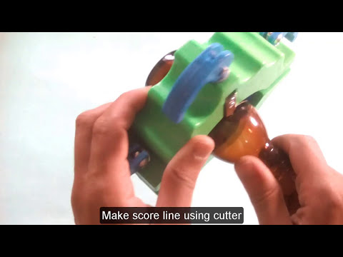 how to cut glass bottle at home  using soldering iron