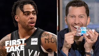 Will Cain laughs at D'Angelo Russell's attempt to hide contraband | First Take