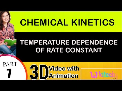 temperature dependence of rate constant chemical kinetics 2 class 12 chemistry subject  cbse