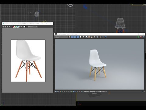 3d model  Evie chair for dining room model 20 minute