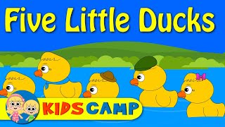 Five Little Ducks Went Out One Day - Nursery Rhymes with Lyrics
