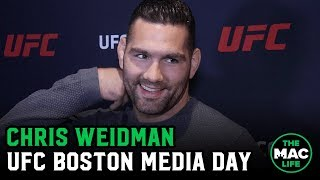 Chris Weidman believes there are asterisks by Anderson Silva and Jon Jones' legacies | UFC Boston