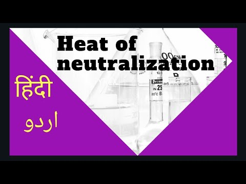 How to calculate enthalpy of neutralization experimentally