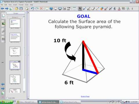 Surface Area of a Square Pyramid.wmv