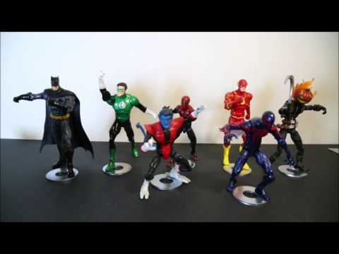 Magnetic display stands for Action Figures