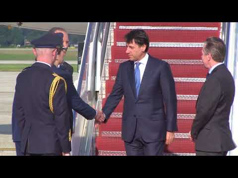 L'arrivo del Presidente Conte a Washington