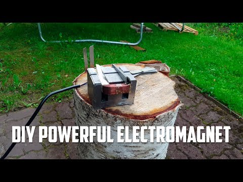 DIY Powerful Electromagnet For Free