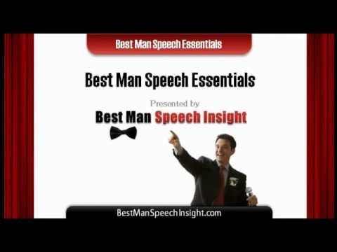 Best Man Speeches - Essential Tips for A Brilliant Best Man Speech