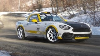 Test Fiat 124 Abarth | Rally Monte Carlo 2017 [HD]