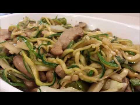 Pork Lo Mein Zucchini Noodles