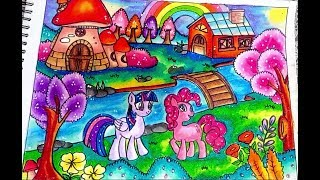Cara Mewarnai Gradasi Crayon Unicorn In The Candyland How To