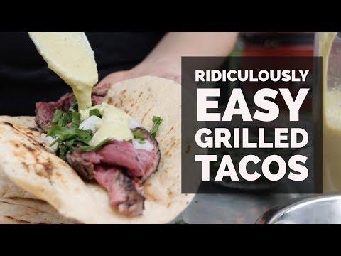 Simple Grilled Bavette Tacos