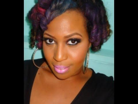 Rainbow Brite - Hair Chalking on Natural Hair