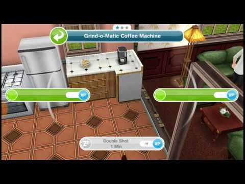 Make a double shot of coffee in sims freeplay
