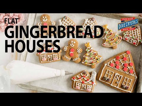 How to Make Flat Gingerbread Houses