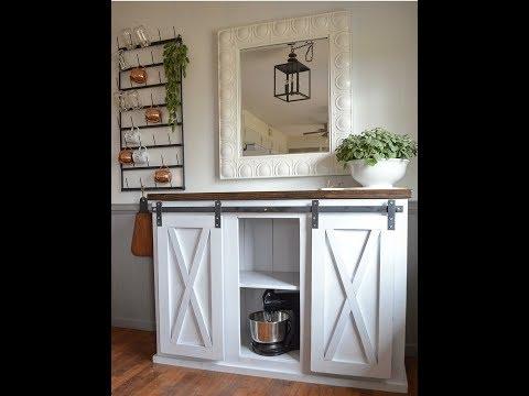 Make your own easy sliding barn door hardware!